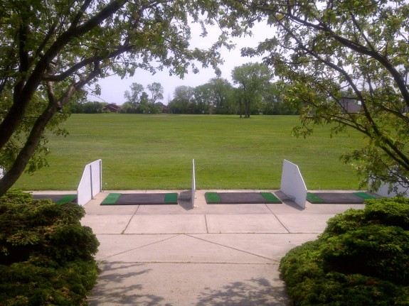 we offer an outdoor driving range pro shop
